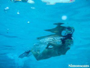 Dahlia naked snorkelling
